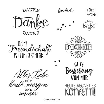 SO GESAGT CLING STAMP SET (GERMAN)