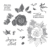 ROSE DE NOËL STAMP SET