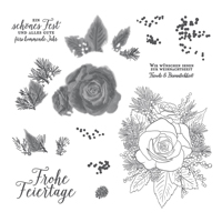 FESTTAGSROSE STAMP SET