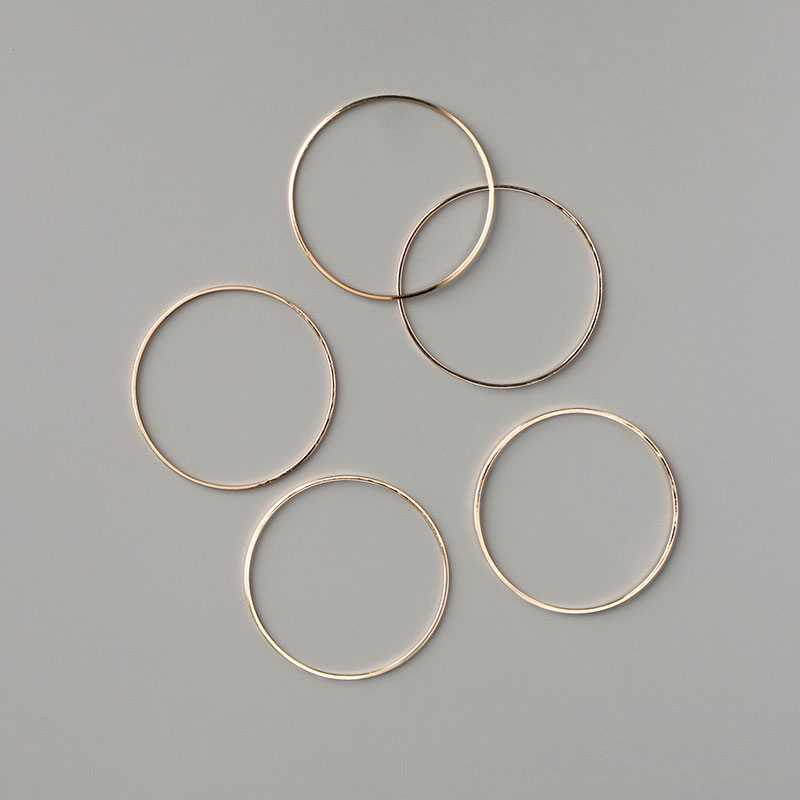 Gold Hoops Embellishments