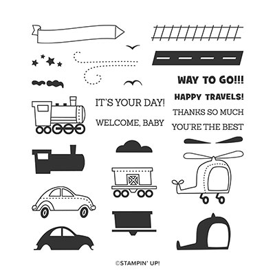 MOVING ALONG PHOTOPOLYMER STAMP SET (ENGLISH)
