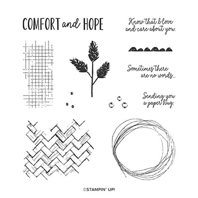 COMFORT & HOPE CLING STAMP SET (ENGLISH)