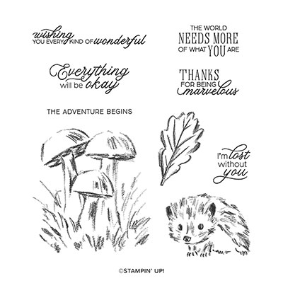 WALK IN THE WOODS CLING STAMP SET (ENGLISH)