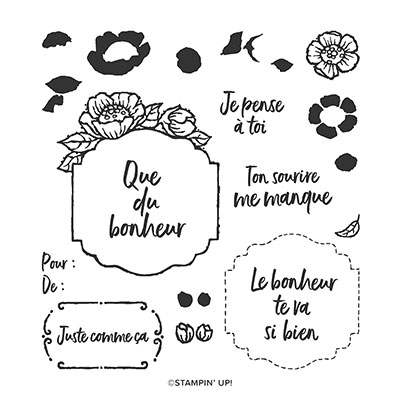 ÉTIQUETTES EN ÉCLOSION PHOTOPOLYMER STAMP SET (FRENCH)