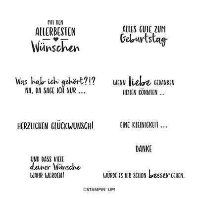 LIEBE GEDANKEN CLING STAMP SET (GERMAN)