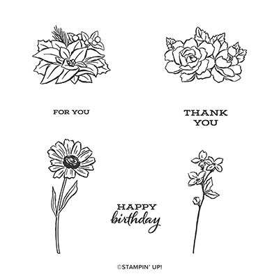 FOUR SEASON FLORAL PHOTOPOLYMER STAMP SET (ENGLISH)