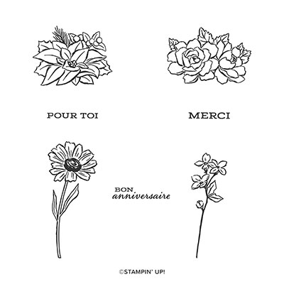 LES SAISONS EN FLEURS PHOTOPOLYMER STAMP SET (FRENCH)