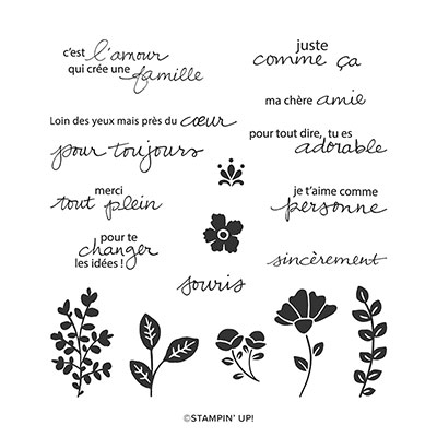 CHARMANTE AMIE CLING STAMP SET (FRENCH)