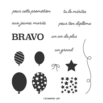 SIX FOIS BRAVO CLING STAMP SET (FRENCH)