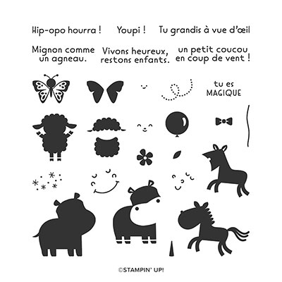 HIPPOPOTAMESQUE PHOTOPOLYMER STAMP SET (FRENCH)