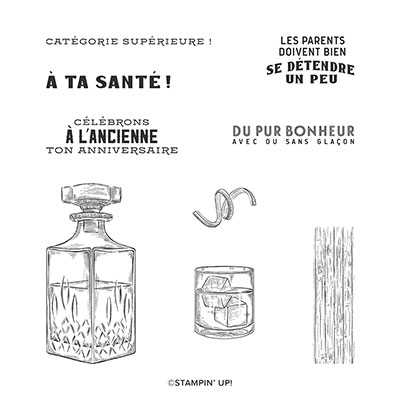 CATÉGORIE SUPÉRIEURE CLING STAMP SET (FRENCH)