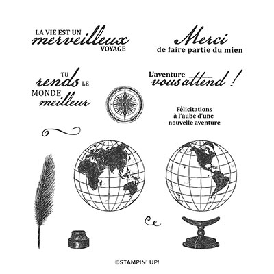 MERVEILLEUX VOYAGE CLING STAMP SET (FRENCH)