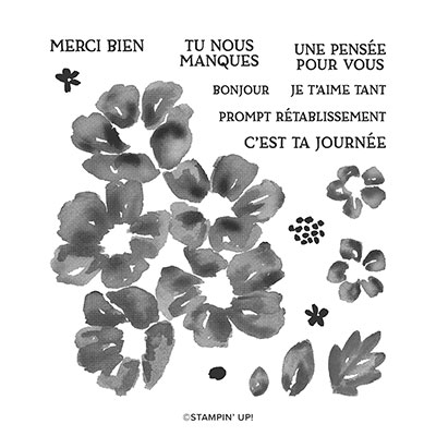 FLORAISON PRINTANIÈRE PHOTOPOLYMER STAMP SET (FRENCH)