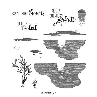 PLEIN DE SOLEIL PHOTOPOLYMER STAMP SET (FRENCH)