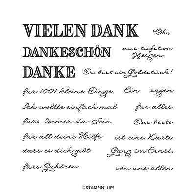 DEKORATIVES DANKESCHÖN PHOTOPOLYMER STAMP SET (GERMAN)