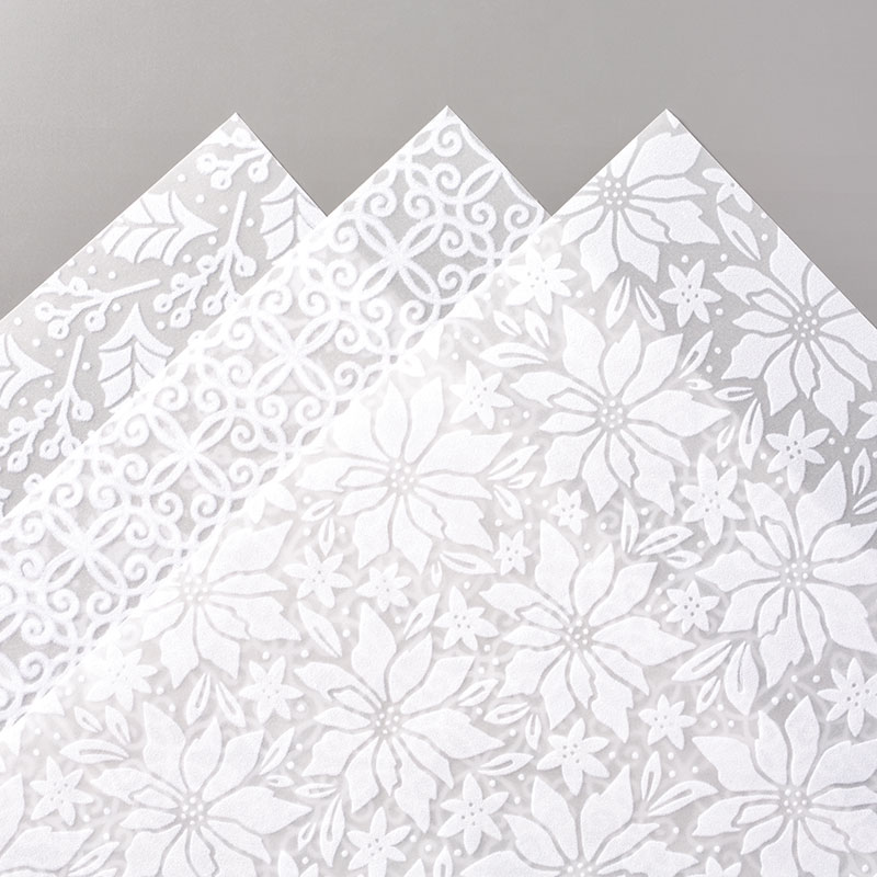 PLUSH POINSETTIA SPECIALTY PAPER