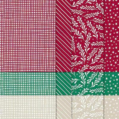 6 X 6インチ(15.2 X 15.2 CM)・デザイナーシリーズ・ペーパー・クラッシック・クリスマス