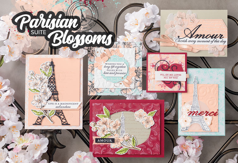 A Trip to Paris in a Card with Parisian Blossoms