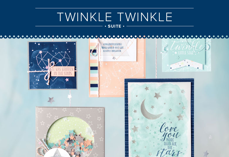 Twinkle Twinkle Suite for Paper Craft and Card Making