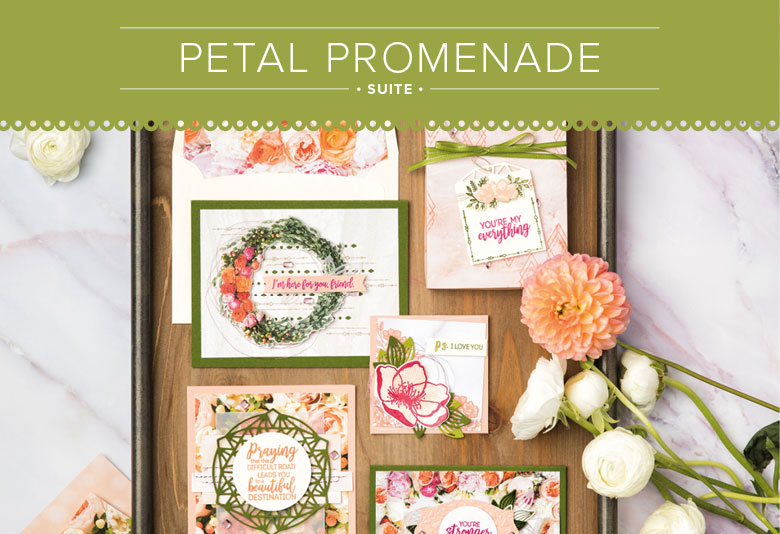 Petal Promenade Suite for Paper Craft and Card Making