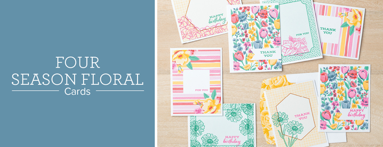 FOUR SEASON FLORAL CARDS