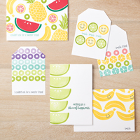 CUTE FRUIT CARDS & TAGS