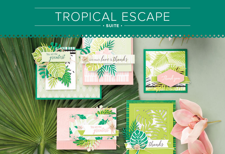 Tropical Escape Suite for Paper Craft and Card Making