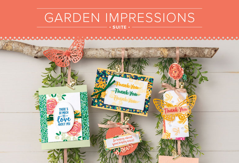 Garden Impressions Suite for Paper Craft and Card Making