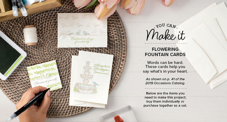 Flowing Fountain Cards