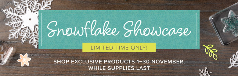 Shop Exclusive Snowflake Showcase products with Leonie Schroder Independent Stampin' Up! Demonstrator Australia