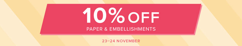 10% Off Paper & Embellishments